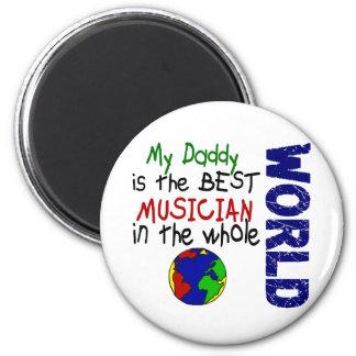 Best Musician In World 2 (Daddy) 6 Cm Round Magnet