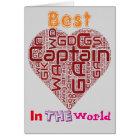 Best Netball Captain Netball Heart Design Card