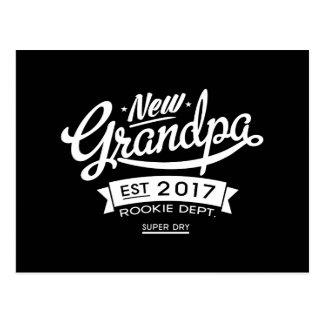 Best New Grandpa 2017 Dark Postcard