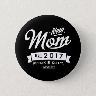 Best New Mom 2017 Dark 6 Cm Round Badge