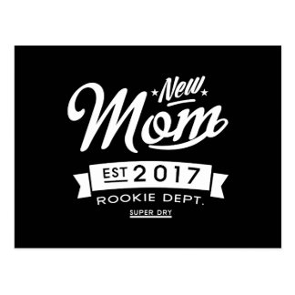 Best New Mom 2017 Dark Postcard