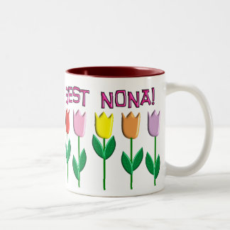Best Nona Tulips Design Two-Tone Coffee Mug