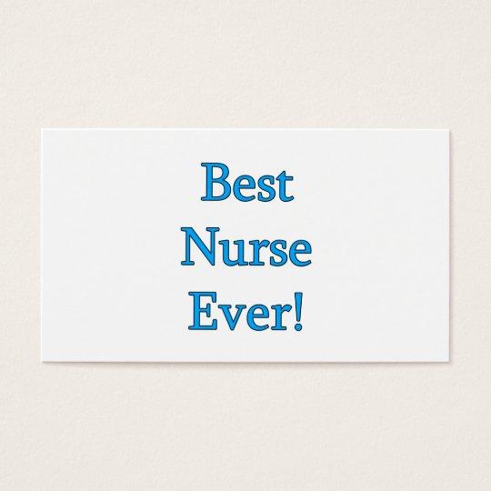 Best Nurse Ever Business Card