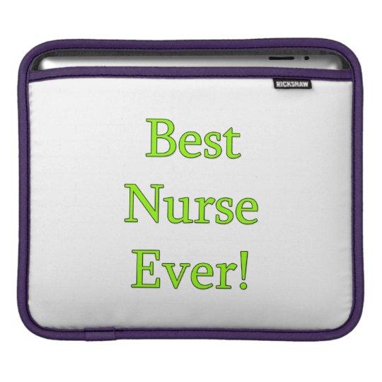 Best Nurse Ever iPad Sleeve