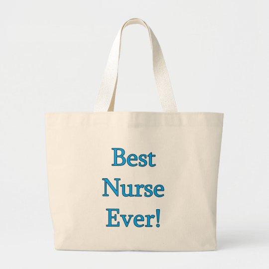 Best Nurse Ever Large Tote Bag