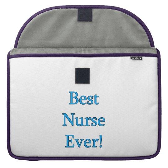 Best Nurse Ever Sleeve For MacBook Pro