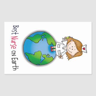 Best Nurse on Earth - Nurses Day - Nurses Week Rectangle Stickers