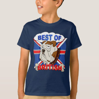 Best of British Cartoon Bulldog Kids T-Shirt