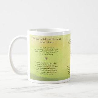 Best of Pride and Prejudice Jane Austen Quotes Basic White Mug
