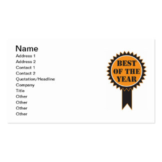Best of the Year Business Card