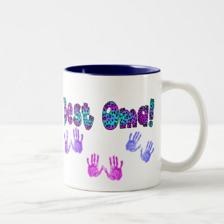 Best Oma Kids Hand Prints Gifts Two-Tone Coffee Mug