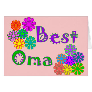 Best Oma Mother s Day Gifts Greeting Card