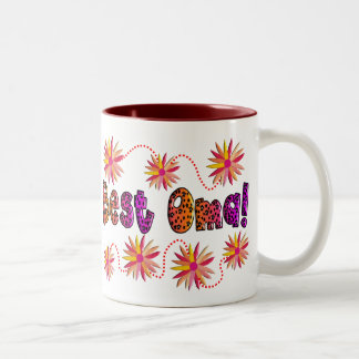 Best OMA PINK ORANGE FLOWERS Two-Tone Coffee Mug