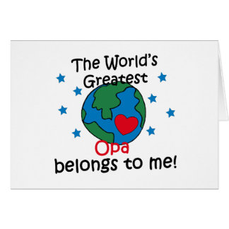 Best Opa Belongs to me Greeting Card