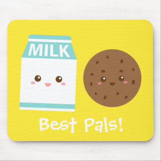 Best Pals, Cute Milk and Cookies Mouse Pads
