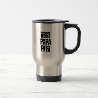 BEST PAPA EVER Charcoal Triangle Pattern Gift Set Travel Mug