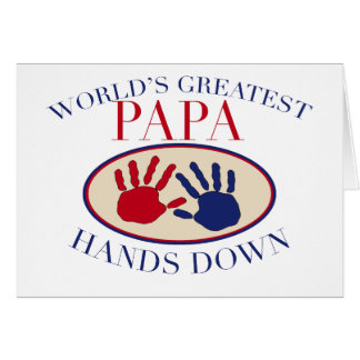 Best Papa Hands Down Greeting Card