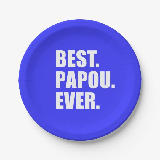 Best Papou Ever Greek Grandfather Party Paper Plate