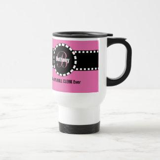 Best PAYROLL CLERK Ever Monogram Custom Name V9 Travel Mug