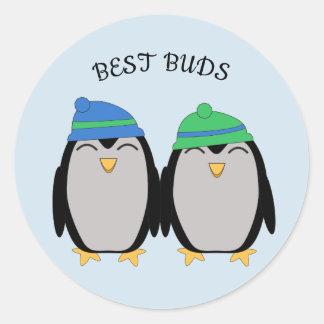 Best Penguin Buds Classic Round Sticker