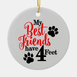 Best Pet Friend Ceramic Ornament