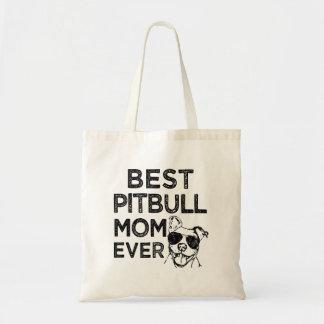 Best Pitbull Mom Ever funny bag