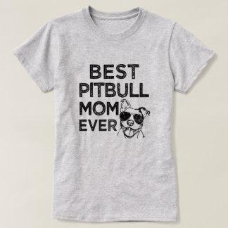 Best Pitbull Mom Ever funny womens pittie shirt