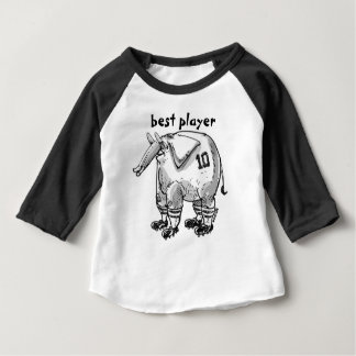 """best player"" cartoon style elephant illustration baby T-Shirt"