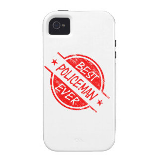 Best Policeman Ever Red Vibe iPhone 4 Case
