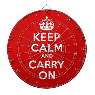 Best Price Authentic Keep Calm And Carry On Red Dart Boards