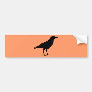 Best Price Black Crow Orange Halloween Bumper Sticker