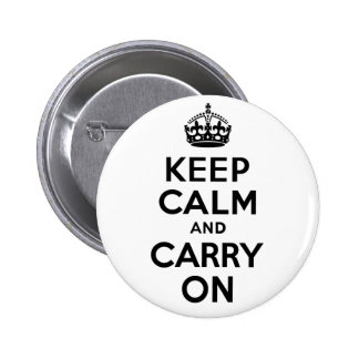 Best Price Keep Calm And Carry On Black 6 Cm Round Badge