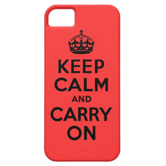 Best Price Keep Calm And Carry On Black and Red iPhone 5 Case