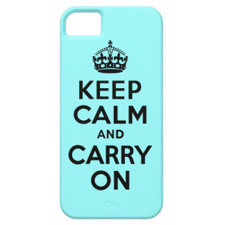 Best Price Keep Calm And Carry On Black and Teal iPhone 5 Covers