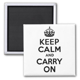 Best Price Keep Calm And Carry On Black and White Magnets