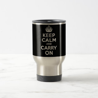 Best Price Keep Calm And Carry On Black and White Coffee Mugs