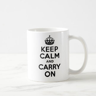 Best Price Keep Calm And Carry On Black Basic White Mug