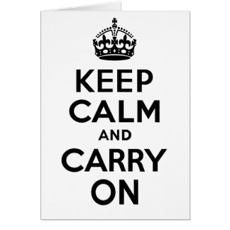 Best Price Keep Calm And Carry On Black Greeting Card