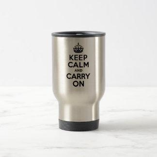 Best Price Keep Calm And Carry On Black Coffee Mug