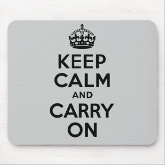 Best Price Keep Calm And Carry On Black Mouse Pads