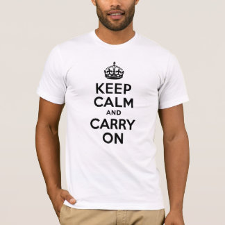 Best Price Keep Calm And Carry On Black T-Shirt