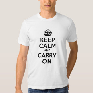 Best Price Keep Calm And Carry On Black Tee Shirts
