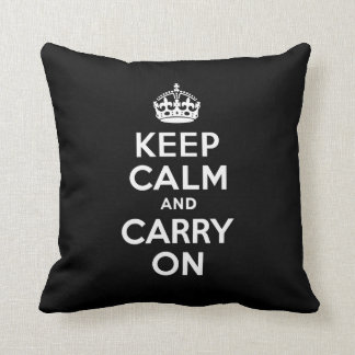 Best Price Keep Calm and Carry On Black & White Cushions