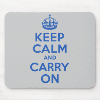 Best Price Keep Calm And Carry On Blue Mouse Pad