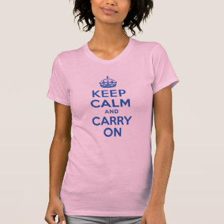 Best Price Keep Calm And Carry On Blue Tee Shirts