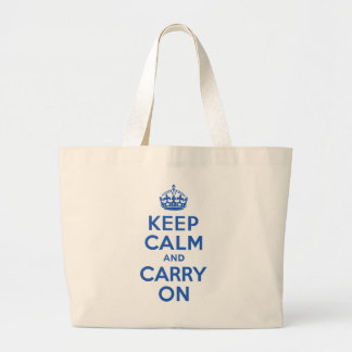 Best Price Keep Calm And Carry On Blue Jumbo Tote Bag