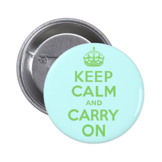 Best Price Keep Calm And Carry On Green 6 Cm Round Badge