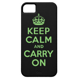 Best Price Keep Calm And Carry On Green and Black iPhone 5 Case