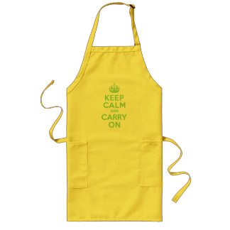 Best Price Keep Calm And Carry On Green Long Apron