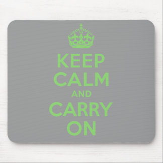 Best Price Keep Calm And Carry On Green Mouse Pads